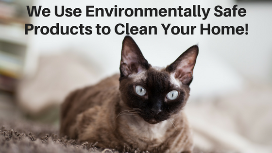 We Use Environmentally Safe Products to Clean Your Home!